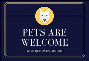Dark blue and Gold dog Pets - Yard Sign