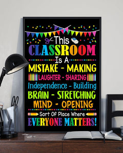 Teacher This Classroom Wall Art Canvas  - Back to school canvas - Everyone matters