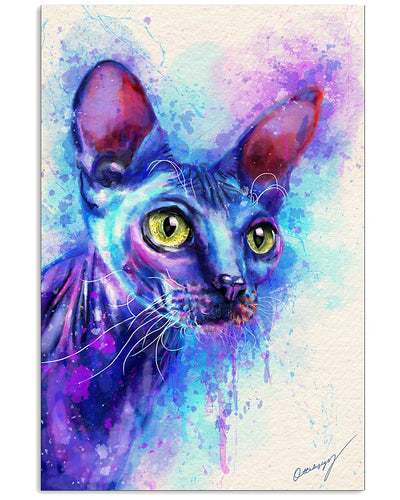 Sphynx Cat Canvas Wall Art - Limited Edition- Anniversary Birthday Christmas Housewarming Gift Home