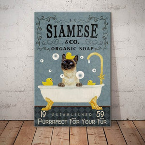 Siamese Cat Organic Soap Canvas - Purrrfect for your fur -  Anniversary Birthday Christmas Housewarming Gift Home