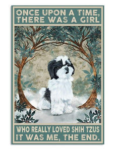 Shih Tzu Once Upon A Time Vertical  Canvas