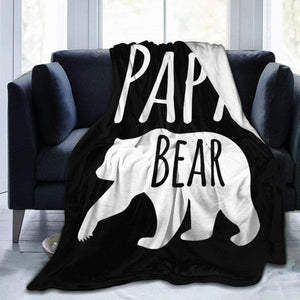 BEST PAPA BEAR - Soft blanket