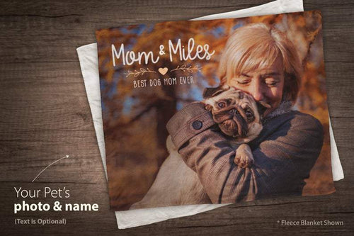 Mothers Day Gift - Personalized Dog Blanket - Mom Photo Gift - Mother's Day Gift - Customize Blanket
