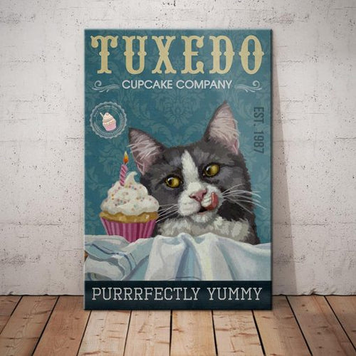 Tuxedo Cat Coffee Company Canvas FP1102- Purrrfectly Delicious - Anniversary Birthday Christmas Housewarming Gift Home