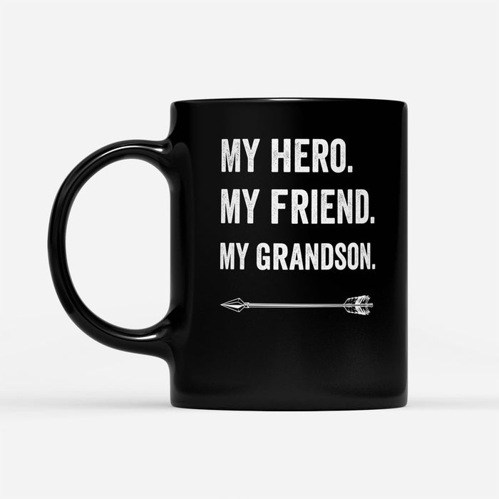 my hero my bestfriend - Black Mug