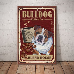 Bulldog Coffee Company Canvas - House blend - Anniversary Birthday Christmas Housewarming Gift Home