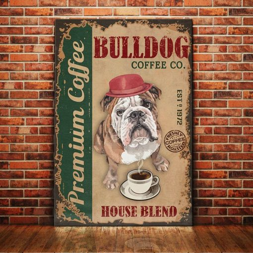 Bulldog Coffee Company Canvas - Premium coffee - Anniversary Birthday Christmas Housewarming Gift Home