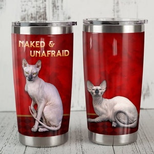 Sphynx Cat Steel Tumbler Cup - Naked and Unafraid
