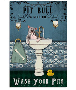 Wash Your Pits Poster Vertical Canvas Prints