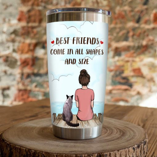 Siamese Cat Steel Tumbler Cup - Best friend come in all shapes and size