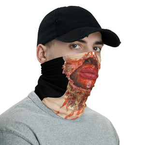 Bloody Mouth Zombie, Rotting Flesh, Horror Gift Face Gaiter Cover for Women Men Adults, Halloween Gift, Rotten Mouth, Reusable Washable