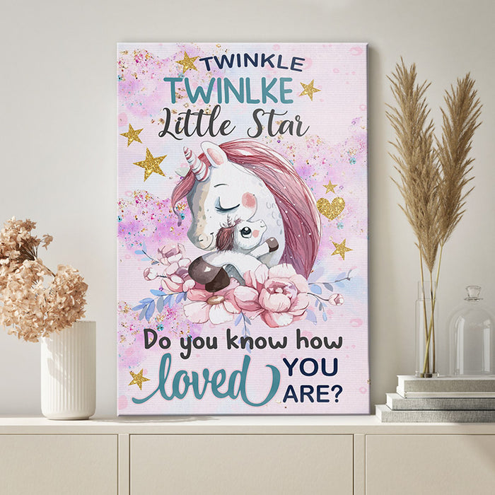 Unircon Canvas Print Wall Art - Do you know how loved you are - Anniversary Birthday Christmas