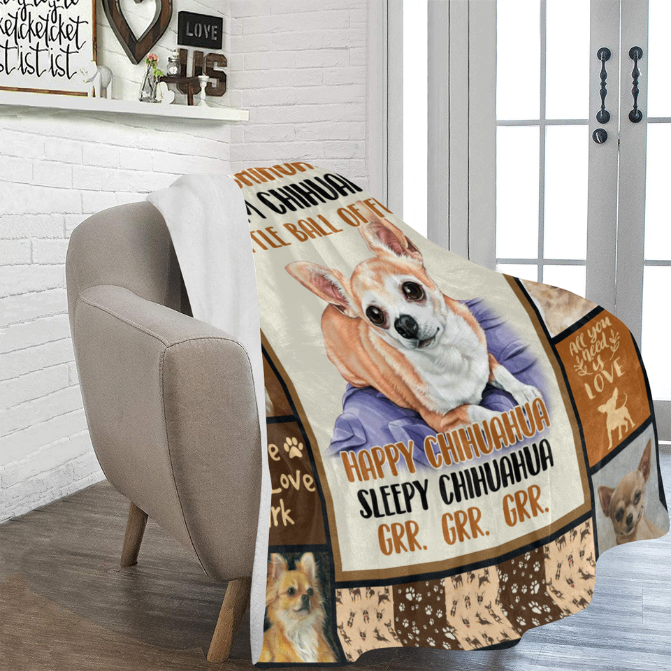 Dog Blanket Soft Chihuahua Warm Chihuahua Little Ball Of Fur Chihuahua Dog Fleece Blanket