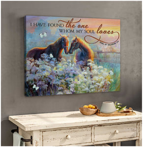 Stunning Horse Canvas The one my soul loves Wall Art Decor Love - Anniversary Birthday Christmas Housewarming Gift Home Decor