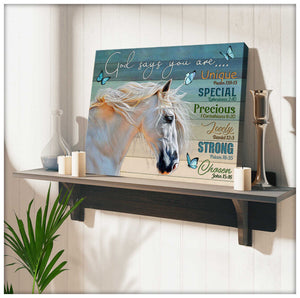 Horse Canvas God Says You Are Wall Art Decor - Anniversary Birthday Christmas Housewarming Gift Home Decor