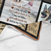 Dog Blanket Don't Walk Behide Me German Shepherd Dog Be My Friend Fleece Blanket