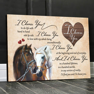 I Choose You Horse Wall Art Decor - Anniversary Birthday Christmas Housewarming Gift Home Decor