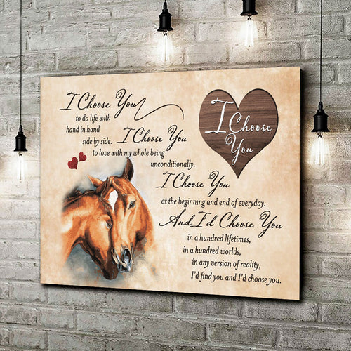 I Choose You Horse Wall Art Decor 002 - Anniversary Birthday Christmas Housewarming Gift Home Decor