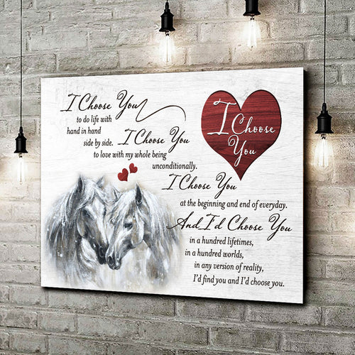 I Choose You Horse Wall Art Decor 003 - Anniversary Birthday Christmas Housewarming Gift Home Decor