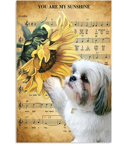 LIMITED EDITION Vertical Canvas - You are my sunshine - SHIH TZU Canvas
