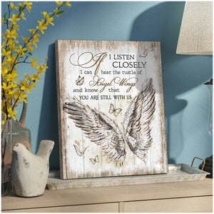 The Rustle of Angel Wings Wall Art Decor – Butterfly Canvas Print Wall Art - Anniversary Birthday Christmas Housewarming Gift Home Decor