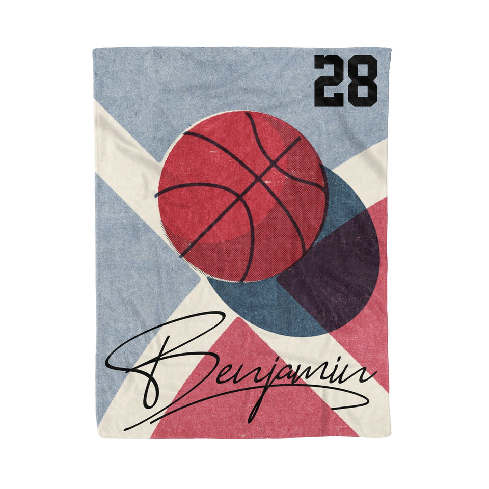 Basketball Draw Personalized Blanket