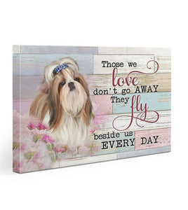 Shih Tzu Beside Us Every Day Gallery Wrapped Canvas Prints