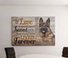 Personalized Canvas - Dog Canvas - If love could save you You could have lived forever - Custom with dog's photo