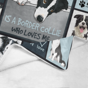 Dog Blanket First Thing I See Every Morning Border Collie Dog Fleece Blanket