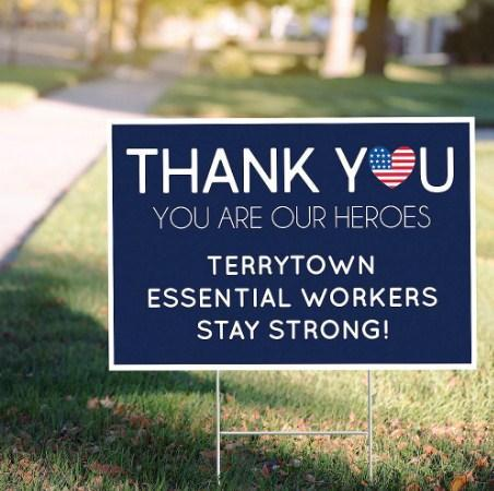 Dr Thank you you are our heroes - Yard Sign