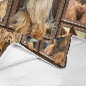 Dog Blanket 3D Yorkshire Terrier Yorkie Dog Fleece Blanket