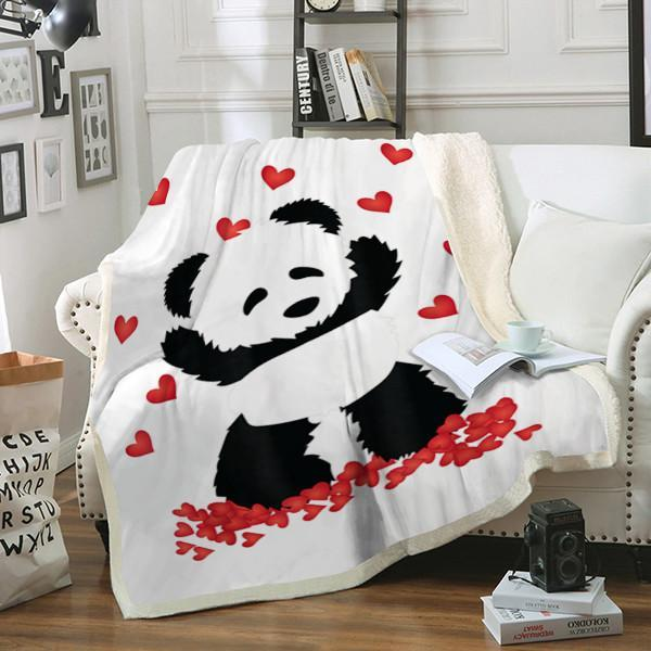 Custom Blanket Panda Blannket - Perfect Gift For Women and Girls - Fleece Blanket