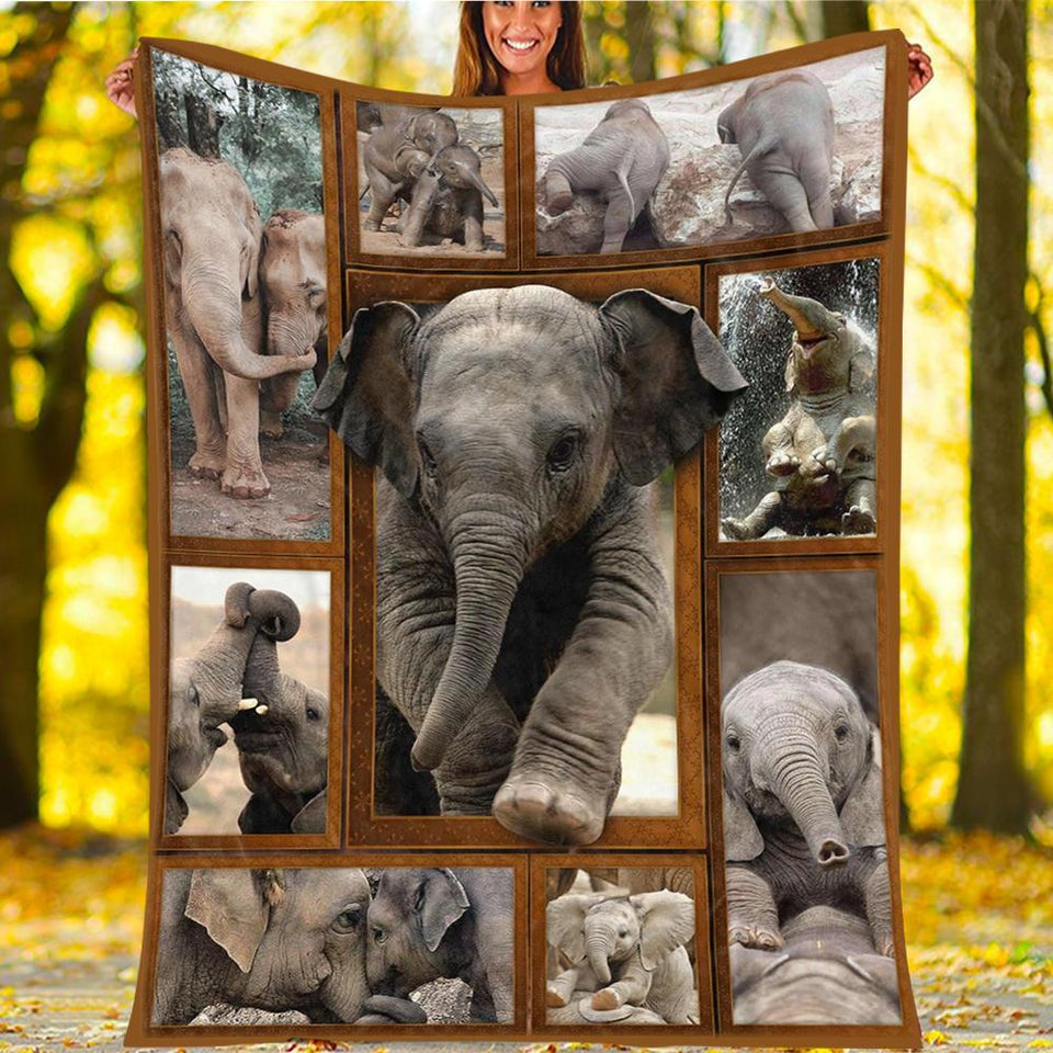 Custom Blanket Elephant 3D Blanket - Fleece Blanket