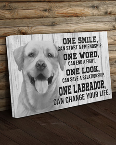 PERSONALIZED CANVAS - PET CANVAS WALL ART - DOG CANVAS - ONE SMILE CAN STAR A FRIENDSHIP