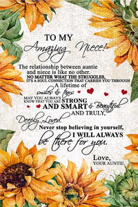 AUNT TO NIECE CANVAS - TO MY NIECE CANVAS WALL ART - I WILL ALWAYS BE THERE FOR YOU