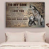 (LL56) Wolf Canvas - Dad to son- I love you