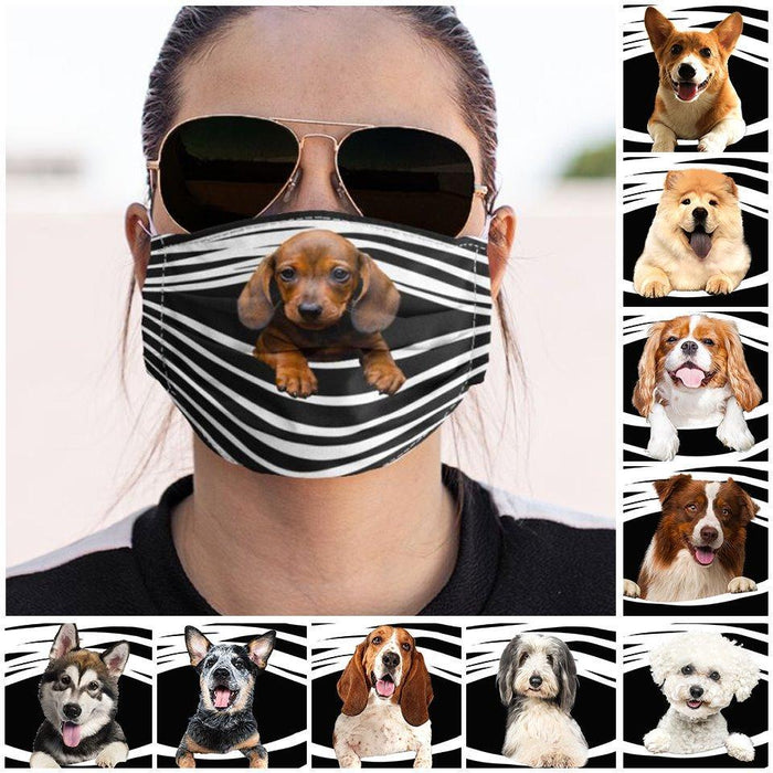 Dog Stripes Cloth Mask
