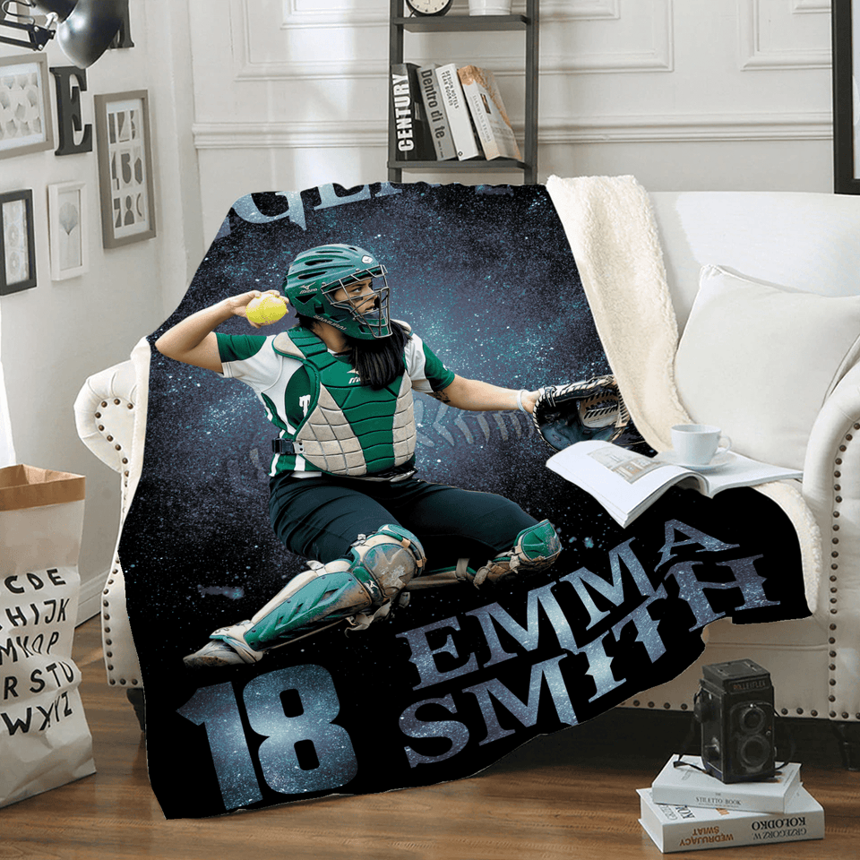 Custom Blanket Softball Legend