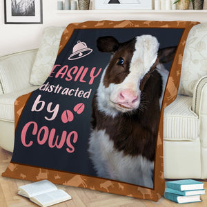 Cow Easily Distracted By Cows Blanket