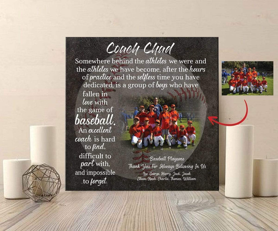 Custom Canvas Prints Baseball Coach With Photo #081119L