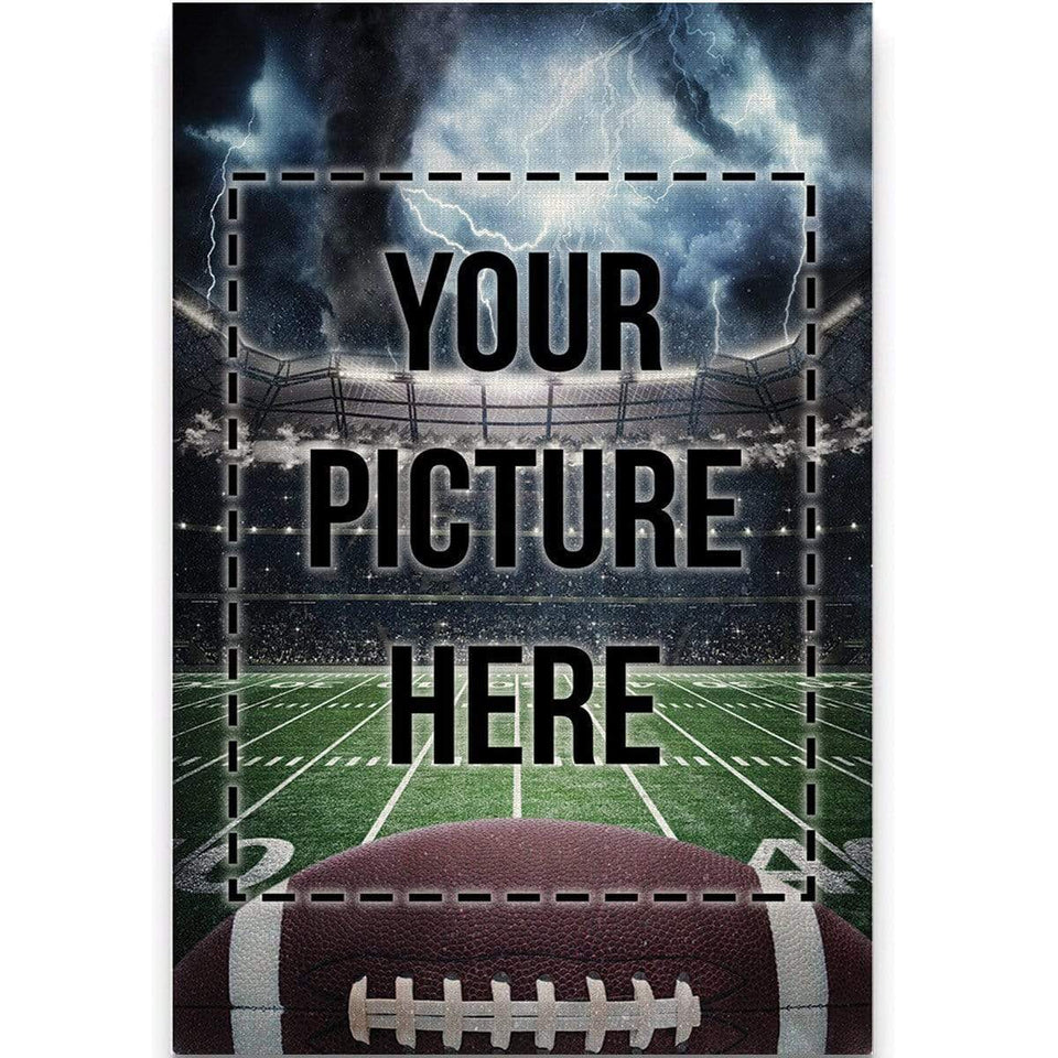 Football custom canvas prints Storm With Photo - #250919H
