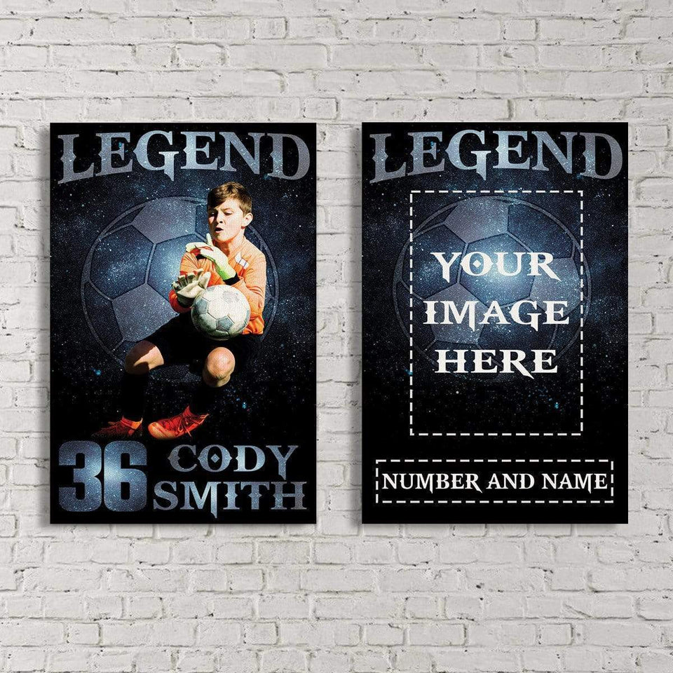 Soccer Legend custom canvas prints with photo