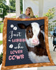Cow Just A Woman Who Loves Cows Blanket