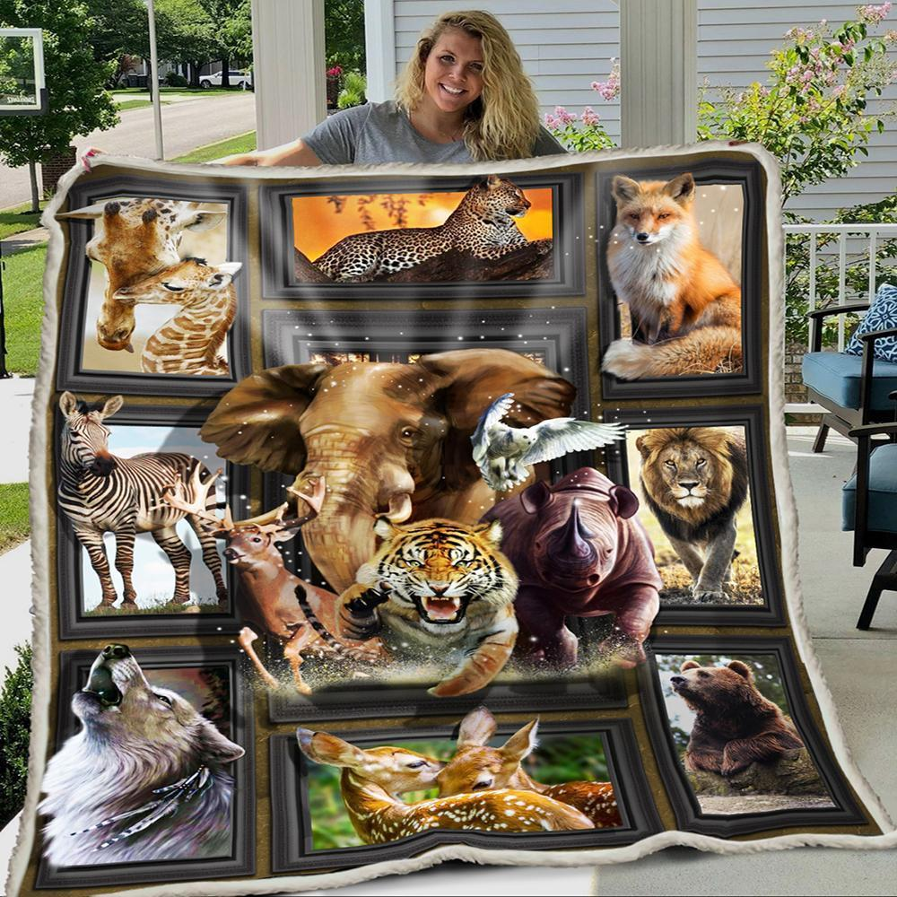 3D Huge Wild Animals Blanket