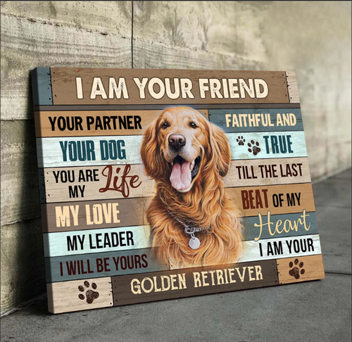 PERSONALIZED CANVAS- ANIMAL CANVAS-  DOG AND CAT CUSTOM PHOTO & NAME CANVAS - RIGHT BESIDE YOU