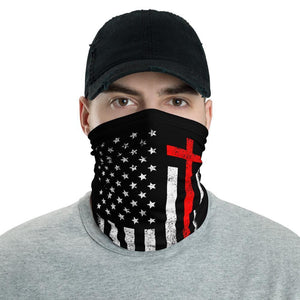 One Nation Under God Red & White Face Gaiter Cover