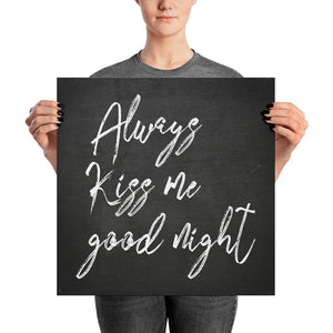 Always Kiss Me Good Night Poster