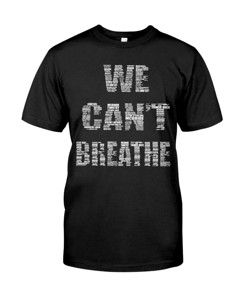 Limited Edition - I can't breathe - Black shirt