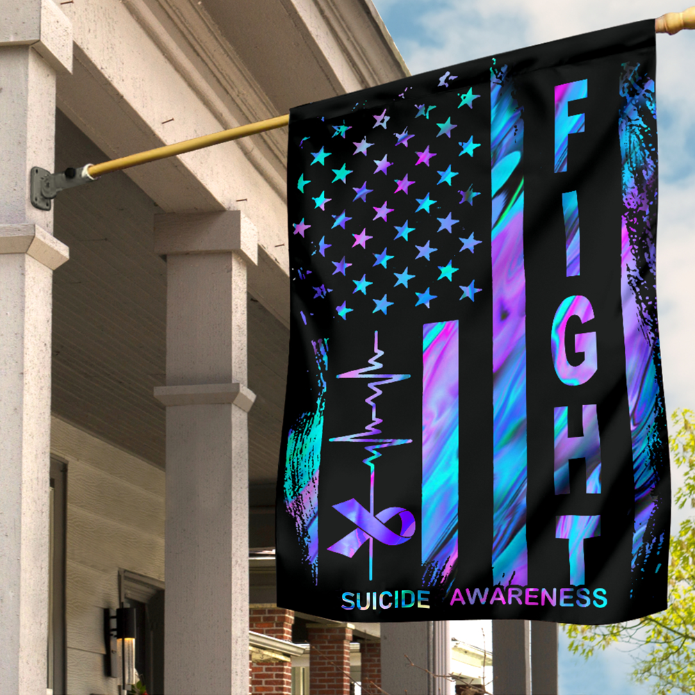 Get a Perfect Gift On 4Th July Flag : Suicide Awareness