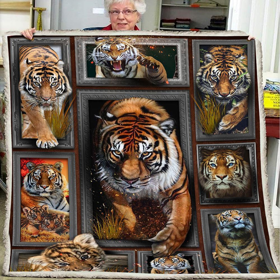 3D Huge Tiger Blanket 1